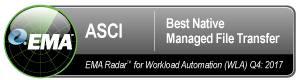 ASCI Awarded Best Native Managed File Transfer