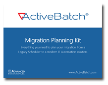 Legacy Scheduler Migration Planning Kit